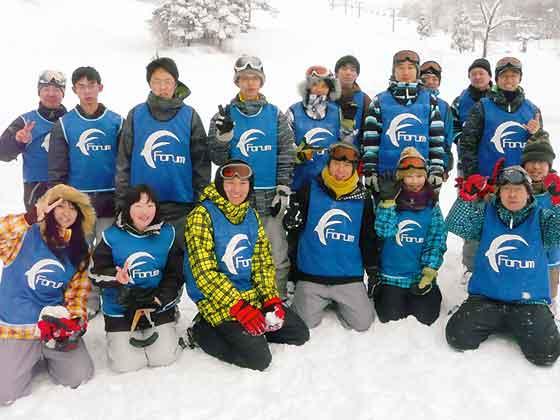 スキーの様子